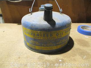 Vintage Galvanized Oil Can Eagle No 401
