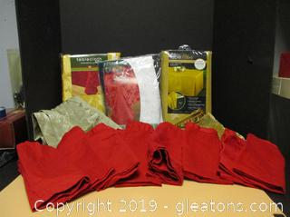 Dress Up Your Table Table Cloths, Runners, & Napkins