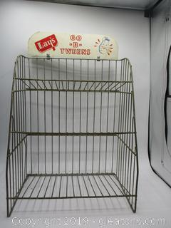 "Lays ""GO-B-Twin"" Snack Rack  3 Tier"