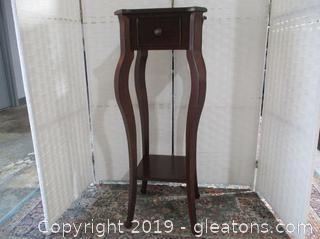 Tall Accent Table W/Drawer
