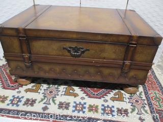 Coffee Table with Vintage Trunk Look