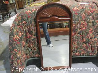 Bombay Co. Beveled Mirror Wood Frame