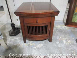 End Table/Night Stan & 1 Drawer with Bottom Cabinet