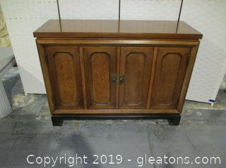 Vintage Sideboard with In Laid Top & 2 Doors with Pulls