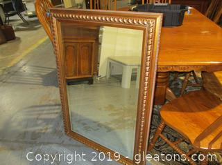 Beautiful Gold Framed Beveled Mirror