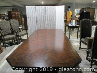 Oversized Modern Mahogany French Victorian Table