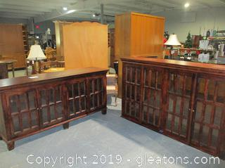 Oversized China Cabinet in 2 Pieces