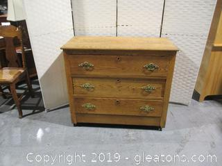 Vintage 3 Drawer Chest on Wheels