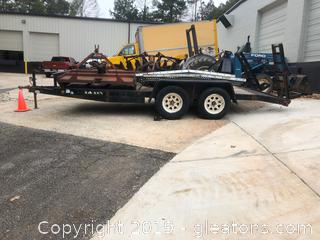 Large Flatbed Trailor W/Attained Drive on Kamps