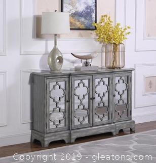 Brand New Rustic Grey Accent Cabinet NO RESERVE
