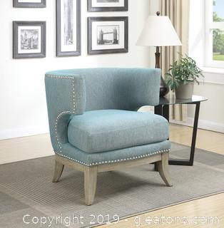 Brand New Contemporary Blue Accent Chair NO RESERVE