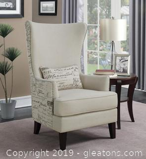 Brand New Traditional Cream Accent Chair NO RESERVE