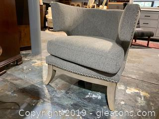 Brand New Traditional Grey Accent Chair NO RESERVE