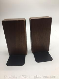 2 Wooden Bookends