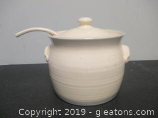Pfaltzgraff Soup Tureen with Lid and Ladle