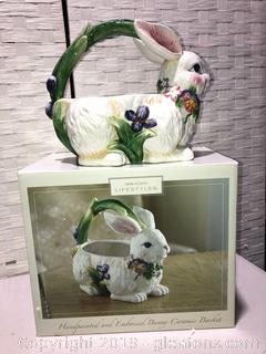 Brand New Made by Home Accents Bunny Basket