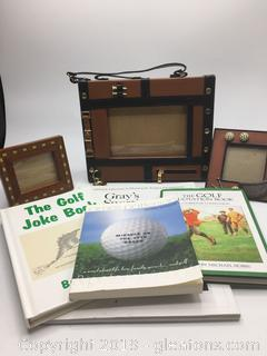 Lot of Golf Decor + Books
