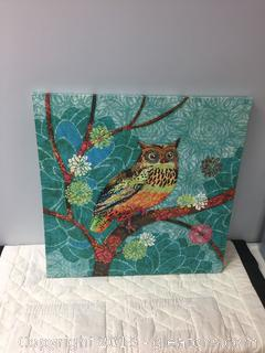 """Owl"" Canvas Wall Art"