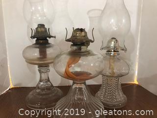 Vintage Oil Lamps (3)