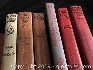 6 vintage books