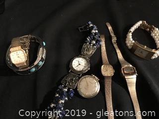 Lot 2 of 7 watches different brands.