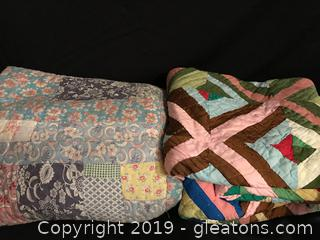 Two Vintage hand made quilts
