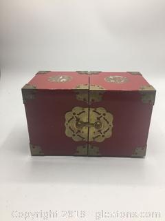 Vintage Red Steam Punk Jewelry Box