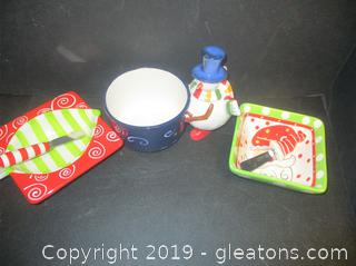 Christmas Serving Snack Bowls