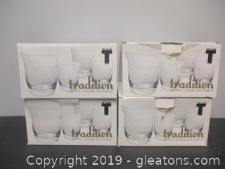 Set of 15 Tradition Double Old Fashion Glassware
