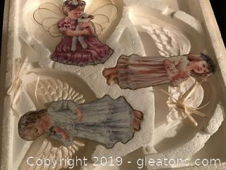 Three Danbury Mint Angel Ornaments