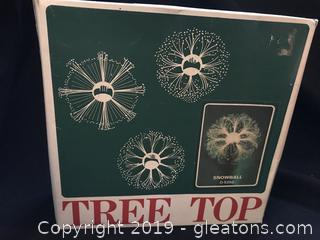Vintage optical tree topper