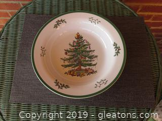 "Large Spode 'Christmas Tree"" Serving Bowl 11 1/2 inches in Diameter / 2 inches tall"