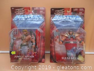 Masters of the Universe Ram Man Action Figure + Jungle Attack He Man Figure