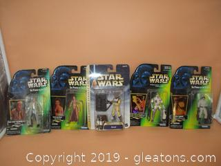 4 Start Wars the Power of the Force Action Figures 1-Star Wars the Empire Strikes Back Action Figure
