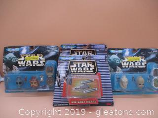 4 Star Wars Micro Machines Never Opened
