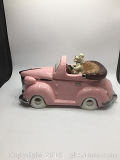 "Hot Rod Collectable ""Poodles in Cadillac"" Cookie Jar"