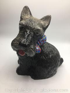 """Scotties Christmas"" Cookie  Jar"