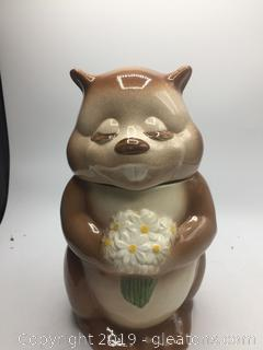 Metlox Chipmunk Cookie Jar
