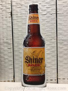 Metal Shiner Bock Sign