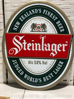 Metal Steinlager Sign