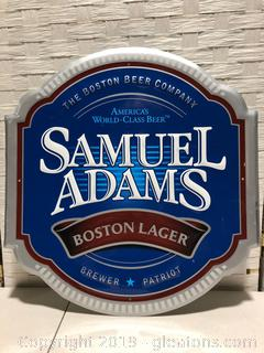 Metal Samual Adams Boston Lager Sign