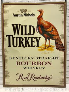 Metal /Wild Turkey Austin Nichols Sign