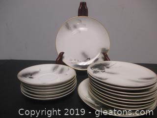 Fukagawa Arita Pattern 903 China 16 Pieces