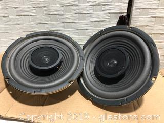 "Brand New Lot of Speco Coaxial 8"" 20 oz Ceramic Sterco Speakers"