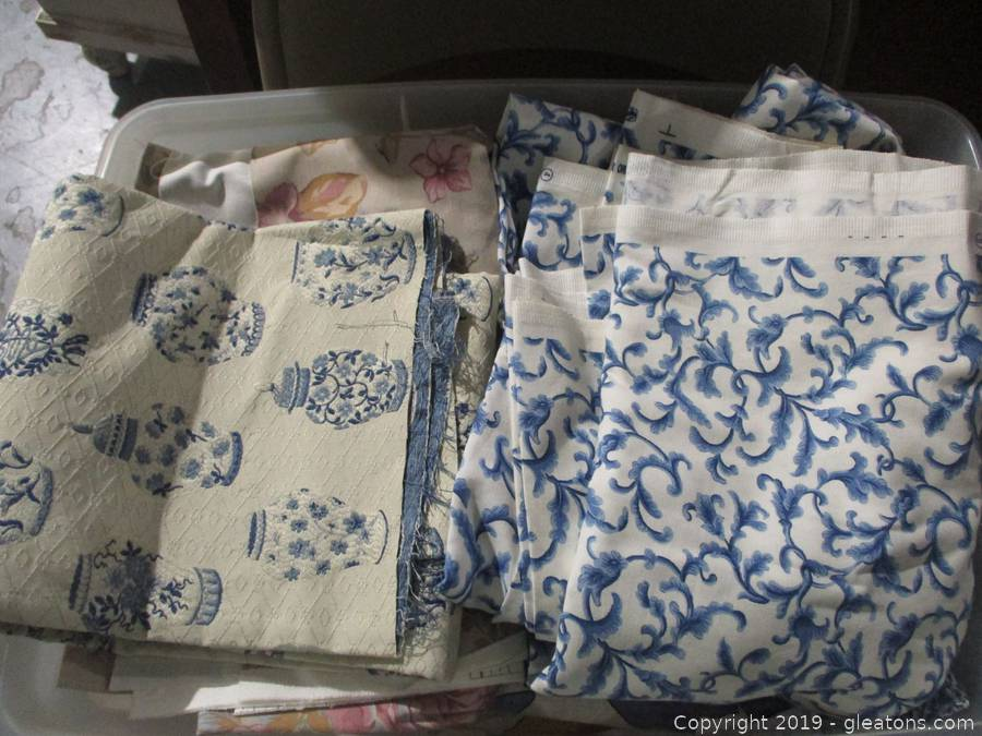 Sewing Sale with Many Reams of Fabric