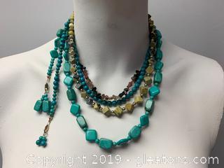 Gemstone Necklace Lot Y