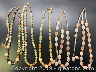 Gemstone Necklace Lot N