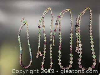 Gemstone Necklace Lot C