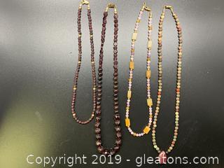 Gemstone Necklace Lot A