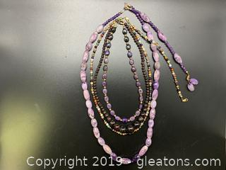 Gemstone Necklace Lot B